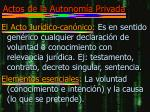 actos de la autonom a privada