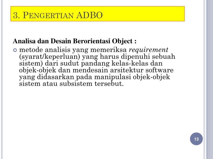 3. Pengertian ADBO
