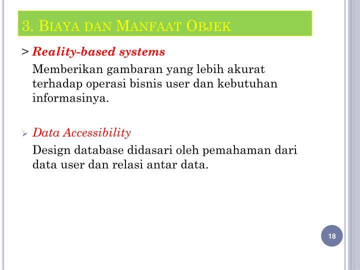 3. Biaya dan Manfaat Objek