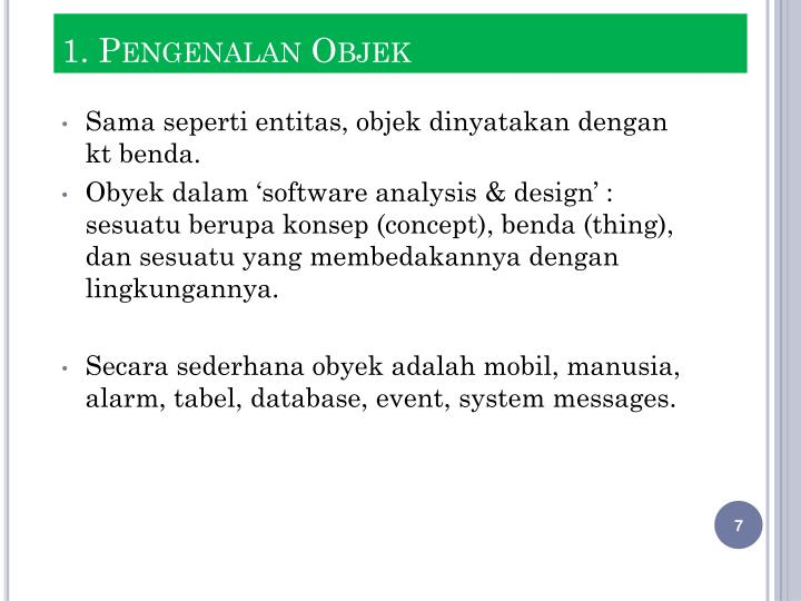 1. Pengenalan Objek