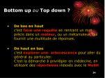 bottom up ou top down