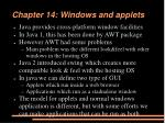 chapter 14 windows and applets