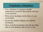 construct a database
