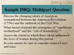 sample dbq multipart question