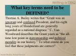 what key terms need to be defined1