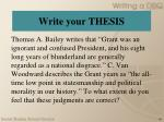 write your thesis1