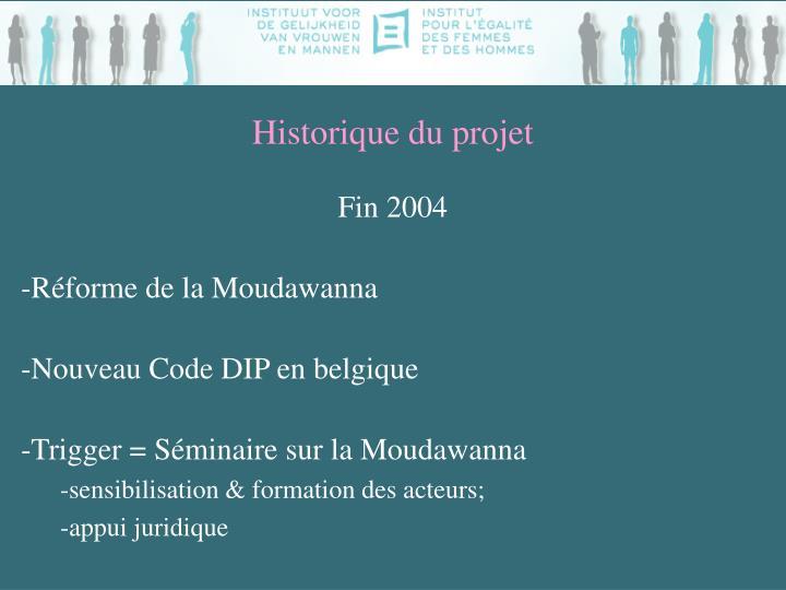 Historique du projet1