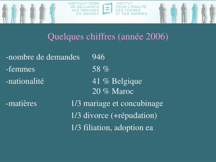 Quelques chiffres (année 2006)