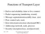 functions of transport layer