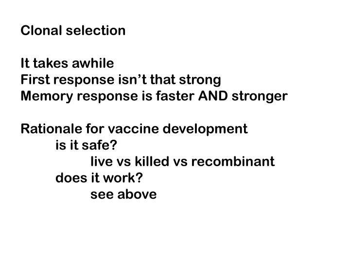 Clonal selection