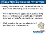 funding and consumer cost participation