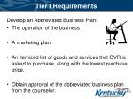 tier i requirements