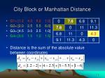city block or manhattan distance