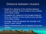 distance between clusters
