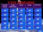 unit jeopardy