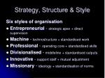 strategy structure style