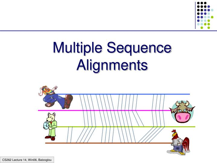 multiple sequence alignments n.
