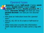 operand types
