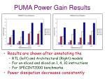puma power gain results