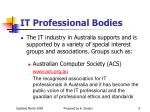 it professional bodies