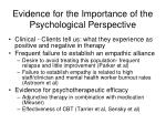 evidence for the importance of the psychological perspective
