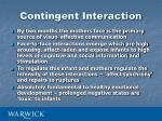 contingent interaction1