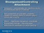 disorganised controlling attachment