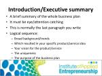introduction executive summary