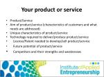 your product or service