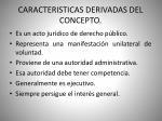 caracteristicas derivadas del concepto
