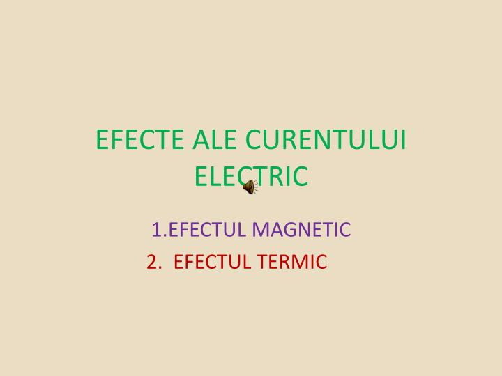 efecte ale curentului electric n.