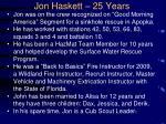 jon haskett 25 years