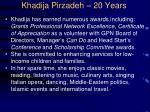 khadija pirzadeh 20 years