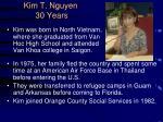 kim t nguyen 30 years