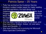 patricia spear 25 years