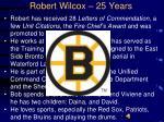 robert wilcox 25 years