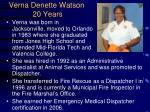 verna denette watson 20 years