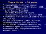 verna watson 20 years