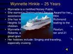 wynnette hinkle 25 years
