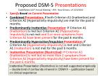 proposed dsm 5 presentations castellanos 163 rd annual meeting apa new orleans la 5 25 2010