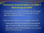provisional recommendations by dsm v work group on adhd