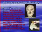 historical perspective on electricity