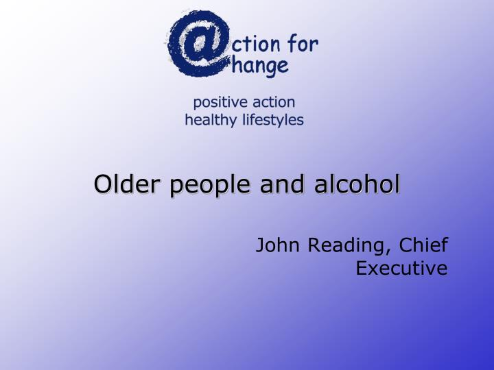 older people and alcohol n.