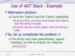 use of adt stack example3
