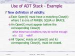 use of adt stack example4