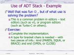 use of adt stack example7