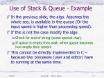use of stack queue example1