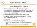 lame delegation control