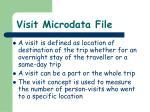 visit microdata file