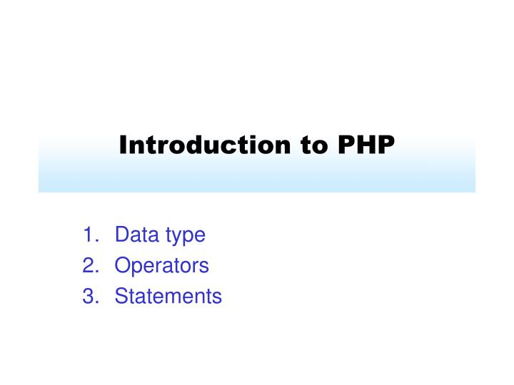 introduction to php n.